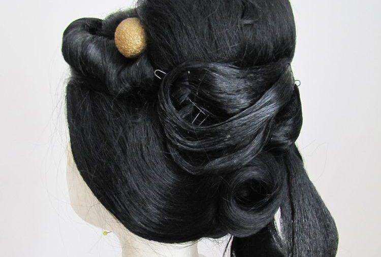 Geisha-Perücke ohne Blumen